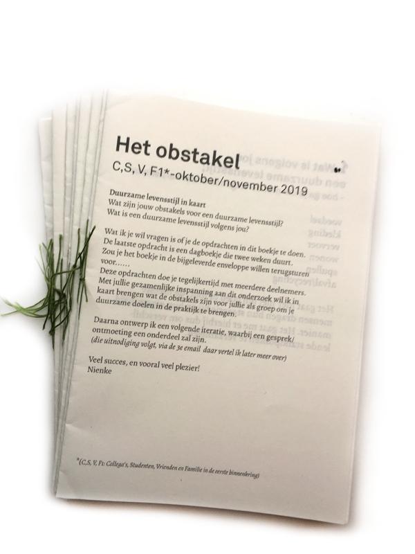 Bericht 02: Cultural Probe: 'Het Obstakel'